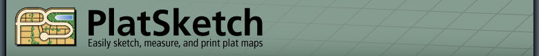 PlatSketch -- Easily sketch, measure, and print plat maps